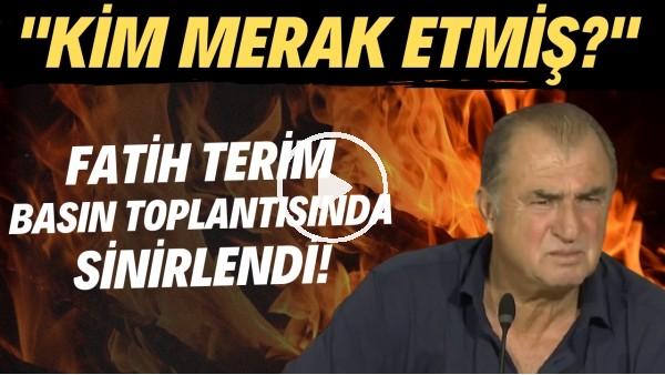 """'Fatih Terim, PSV maçı sonrası basın toplantısında sinirlendi! """"Kim merak etmiş?"""""""