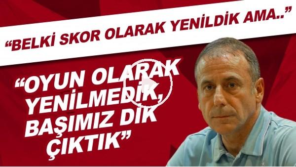 """'Abdullah Avcı:  """"Belki skor olarak yenildik ama oyun olarak yenilmedik, başımız dik çıktık"""""""