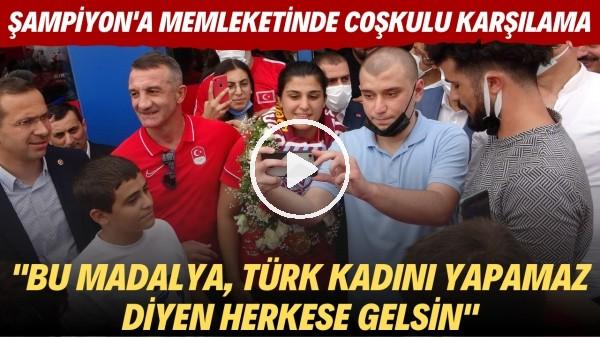 Olimpiyat şampiyonu Busenez Sürmeneli'ye memeleti Trabzon'da coşkulu karşılama
