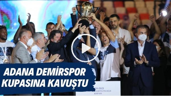 'Adana Demirspor'un kupa töreni gerçekleştirdi