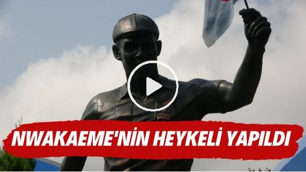 'Trabzonsporlu taraftarlar, Nwakaeme'nin heykelini yaptırdı