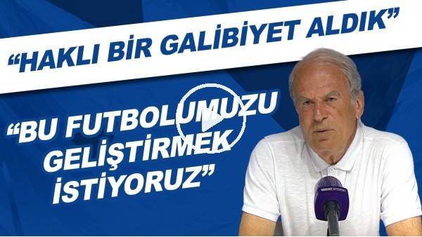 """'Mustafa Denizli: """"Haklı bir galibiyet aldık. Bu futbolumuzu geliştirmek istiyoruz"""