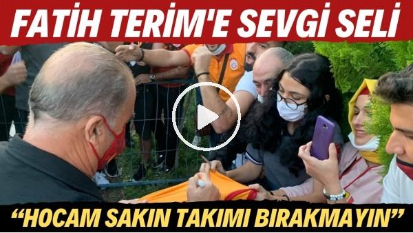 """'Fatih Terim'e Kayseri'de sevgi seli! """"Hocam sakın takımı bırakmayın"""""""