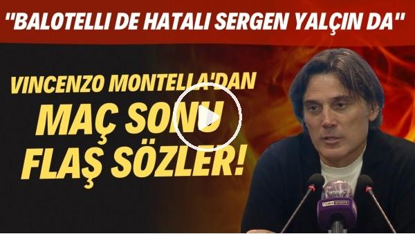 """'Adana Demirspor Teknik Direktörü Montella'dan FLAŞ sözler! """"Balotelli de hatalı Sergen Yalçın'da"""""""