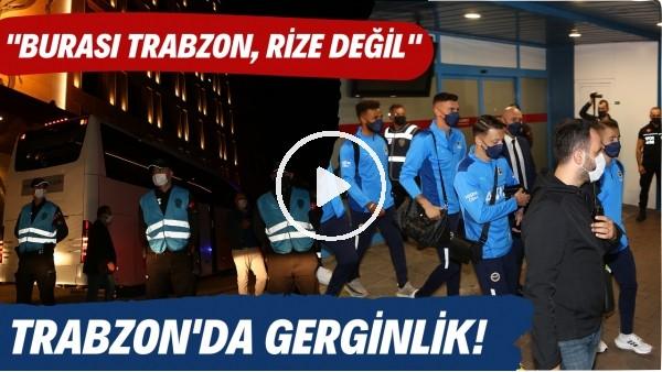 'Fenerbahçe kafilesinin gelişi esnasında Trabzon'da gerginlik yaşandı!