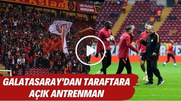 'Galatasaray derbi öncesi taraftara açık antrenman