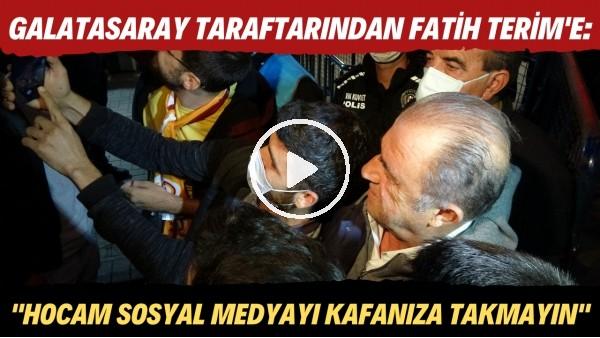 """'Galatasaray tarftarındaın Fatih Terim'e: """"Hocam sosyal medyada yazılanları kafanıza takmayın"""""""