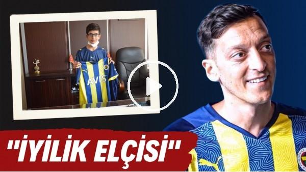 ''İyilik Elçisi' Mesut Özil'den yangınzede Devran'a imzalı forma