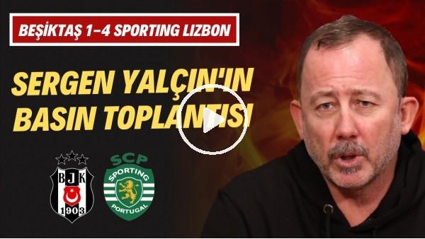 """'Sergen Yalçın'dan ilginç mağlubiyet yorumu! """"4-1 gerçek skor değil"""""""